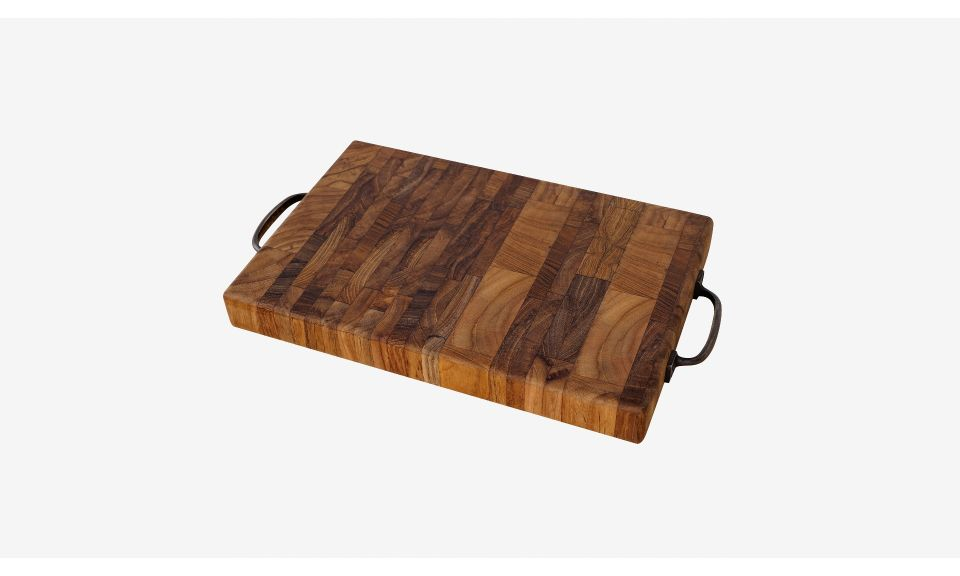 Celery - End Grain Chopping Board with Brass Handles