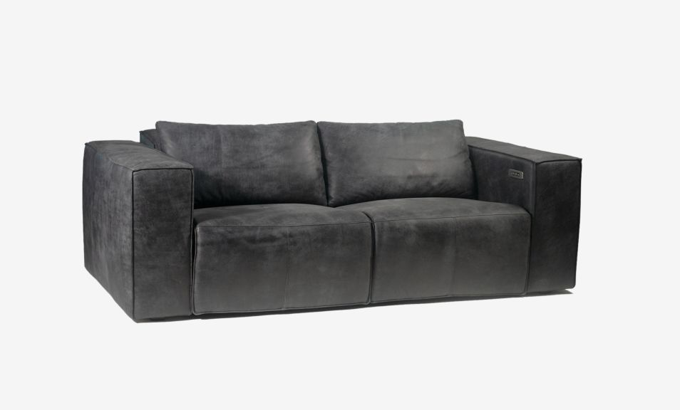 Beaumont 2 Seater Recliner Sofa - Leather (Touch Motion)