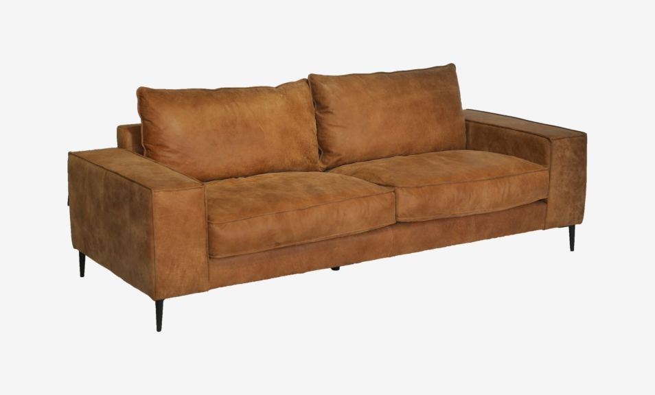 Reilly 3 Seater Sofa - Natural Chocolate