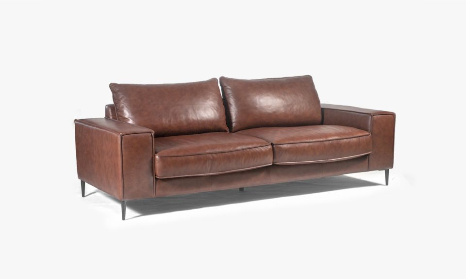 Reilly 3 Seater Sofa - Natural Brown