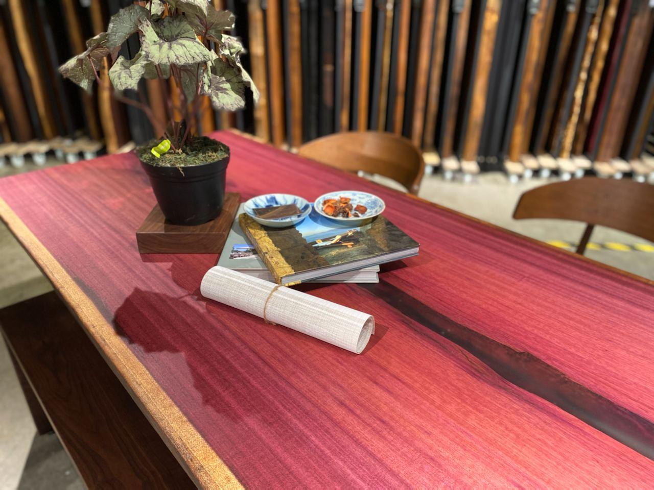 Purple Heart Dining Table