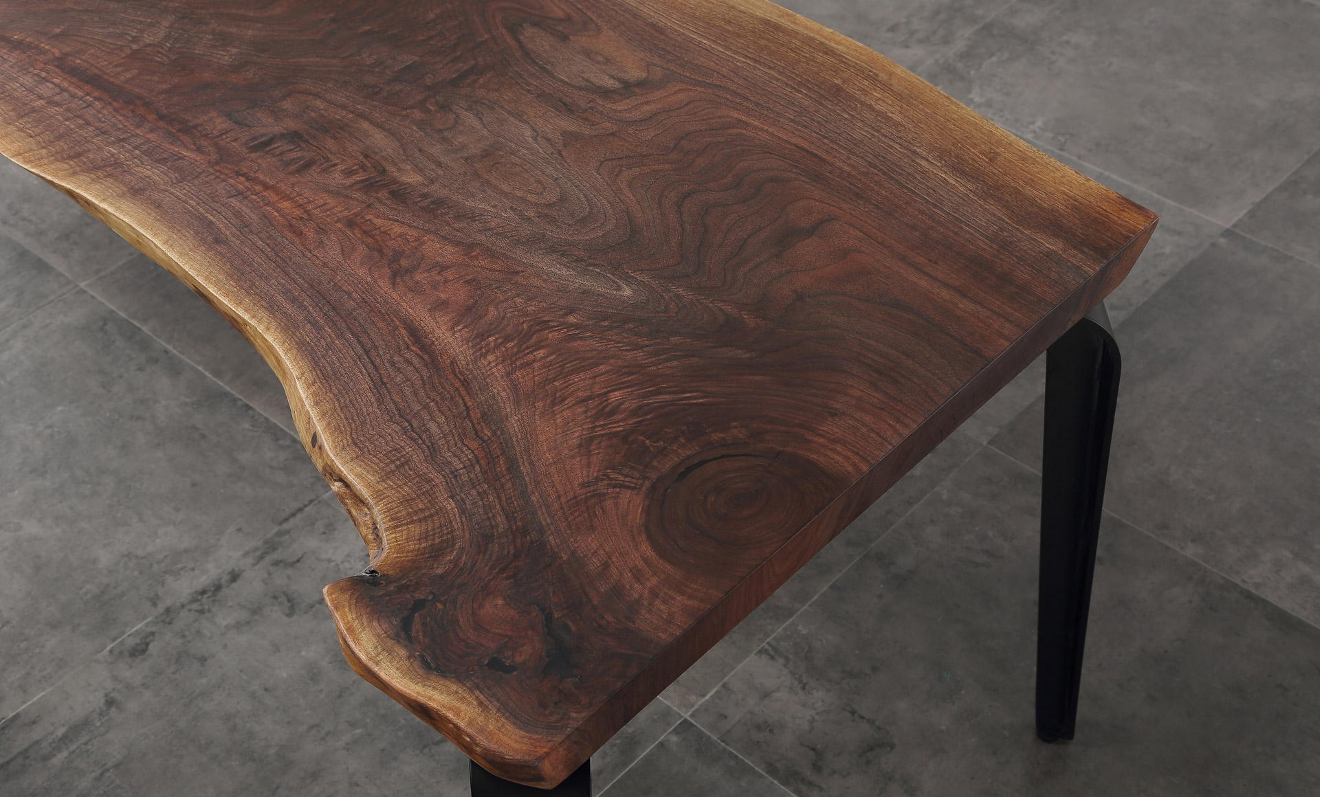 Live Edge Solid Wood Walnut Dining Table