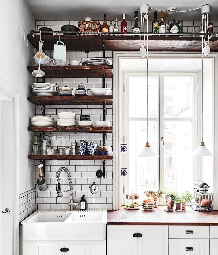 floating shelves in small apartment singapore
