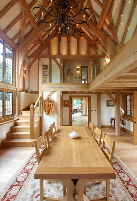 Fully matching the wood colour can result in oldish and traditional look.